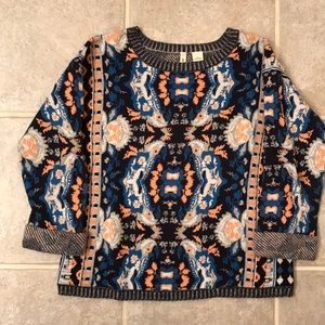 Anthropologie Patterned Sweater